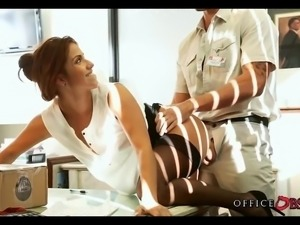 Latina Slut gets Fucked by the Maintence Guy at Work