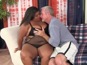 Fat black girl and fat white cock