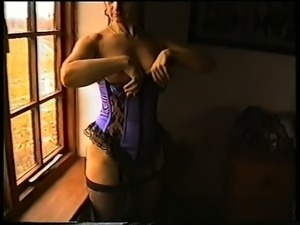 Yvonne Gets naked by a window