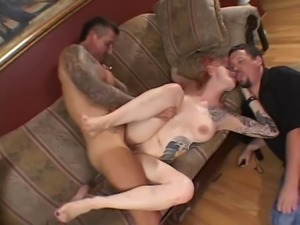 Kinky chick makes her lover happy while fucking a hot fellow