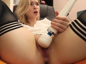 Girl squirts that are blonde
