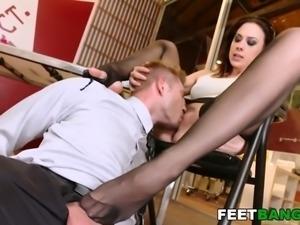 Chanel Preston hot foot fetish porn