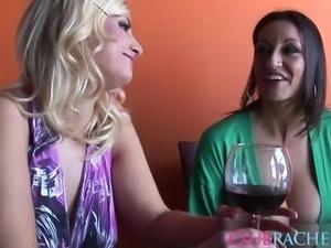 Rachel Love joins a couple of insatiable lesbinas for a shag
