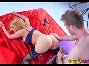 Blonde MILF goes Cock crazy at photoshoot