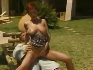 Short haired Redhead fucked Outddors