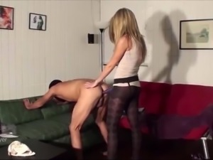 Sexy & Petite Blonde Smashes Man's Ass With Strapon