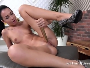 Watch dark-haired beauty Mistica in a fuck party for one, where she's having...