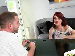 Redhead Jessica Ryan and a lucky guy enjoy oral sex they wont soon forget