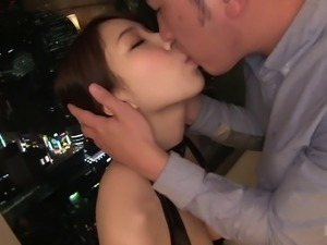 Rough pounding with Mio Kayama ends with two orgasms