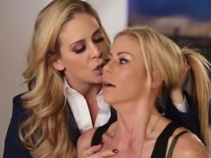 Blonde lesbian soldiers - Cherie DeVille, Alexis Fawx