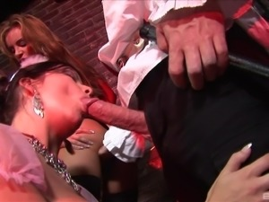 Dick craving sex bombs have a blast with randy fellows