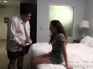 Young Whore Pleasing Fat Old Man