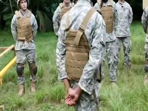 Hairy  gay sex movie and army porn His big rock-hard cock!