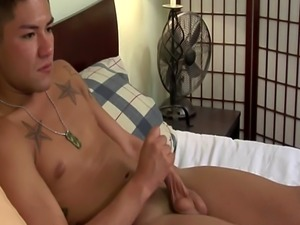 Hung soldier blows load
