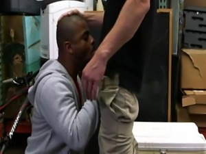 Black gay in leather movie Desperate fellow does anything for money