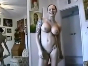 Big Tits Tattooed Wife Being the Perfect Slut for Husband