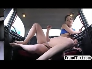 Brunette babe nailed by nasty bald dude