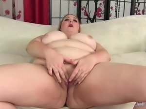 Big boobed fat ass uses sex toys
