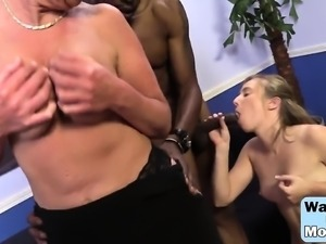 Blondes Sofie And Taylor Sharing Long Black Dong
