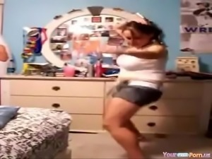 Dancing teen strip big tits