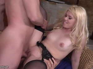 Masha Ray loves being on display sucking and fucking every cock in the room