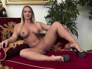 Nikki Crew swallows ad giant dick