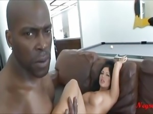 Hot milf with big fake tits geting fuck outside  by big blac