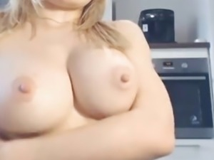 sexy blond with big tits boobs and hard nipples shaved pussy