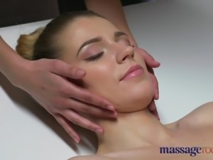 Massage Rooms Russian model has her tight hole fucked
