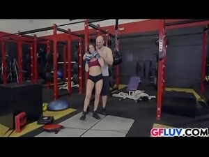 Aubrey Rose Fucked On Gym Bike