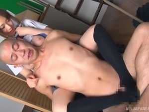 Japanese schoolgirl just wants to see a dick explode with spunk