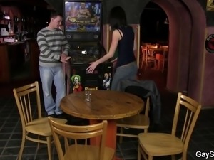 first gay bubbles and sex in the bar