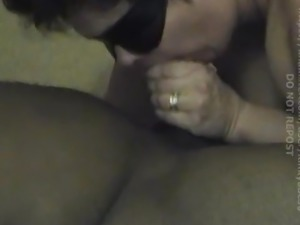 Interracial - BBW MILF Swallowing Black Cock