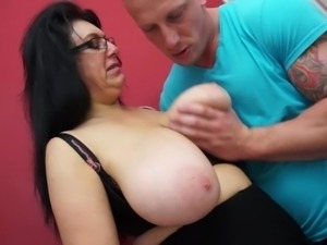 Curvaceous black-haired cougar Sabrina is hungry for the taste of cock, and...