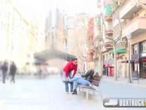 Hot Briana Banderas has Hardcore Sex in Public with Marco
