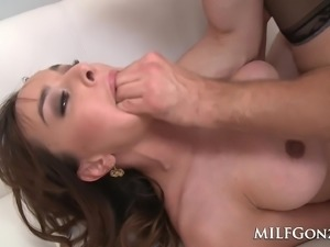 Cytherea squirting while she fucks a young guy