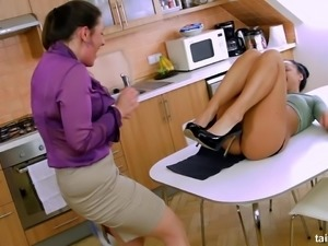 Valentina Rossi just can't get enough of her business partner's pussy