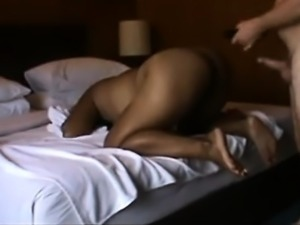 Skinny ebony amateur cumshot