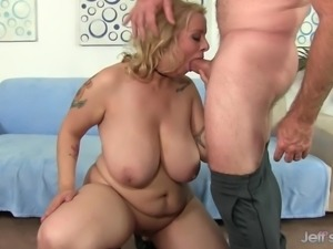 Big Boobed Plumper Sinful Samia Sucks a Cock Then Takes It Up Her Pussy