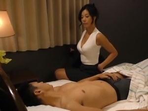 Katase Hitomi is a horny MILF ready for a hard tool