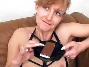 German Mature Eats Cum Before Anal