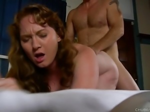 Cheeky chubby chick loves to fuck and facial cumshots
