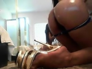 Amazing asian solo play with toys