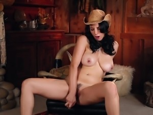 Hot solo session is all busty babe Jelena Jensen craves
