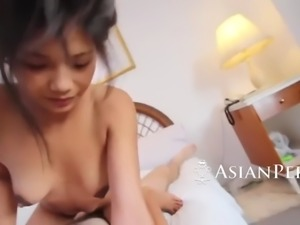 asian excellence taking in a fat monster