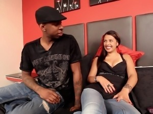 Black guy goes crazy over Laura when he sees her knee high socks