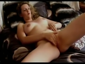 Amazing amateur sexy leggy beauty was tickling her own sweet pussy