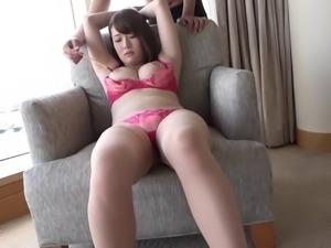 Nozomi Hinata likes to fuck in different bras and panties