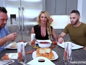 Phoenix Marie wants to make two handsome men's dicks stiff
