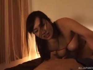 Wakatsuki Mizuna is a gorgeous woman craving a fellow's dong